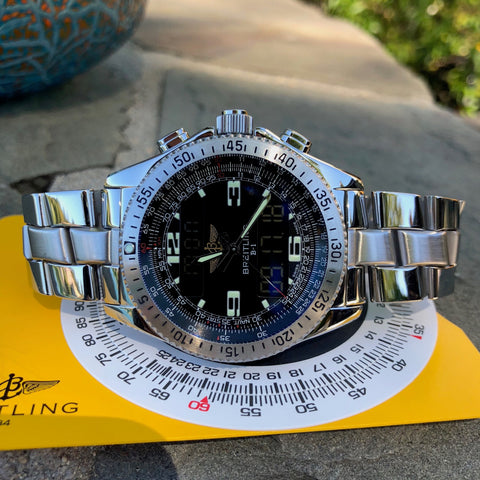 Rolex Explorer II 16570 Black Stainless Steel GMT Oyster Z Serial Wristwatch Box & Papers