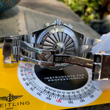 Breitling B-1 A68362 Stainless Steel Digital Analog Black Chronograph Wristwatch Box & Papers - Hashtag Watch Company