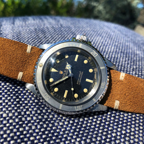 Vintage Rolex Submariner 5513 Gilt Meters First Bart Simpson Wristwatch Circa 1966