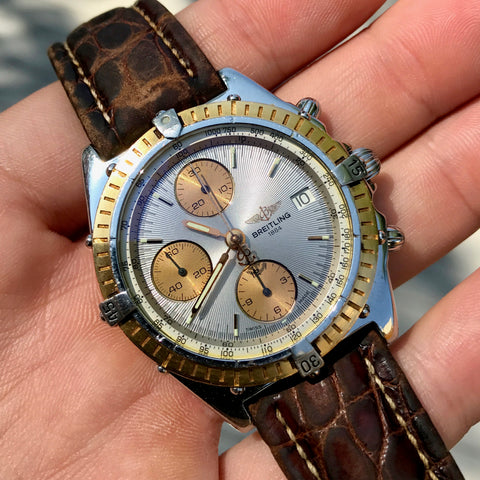 Breitling Chronomat 13047 Stainless Steel Gold Two Tone Chronograph Automatic Wristwatch