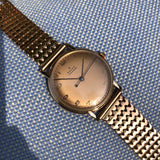Vintage Rolex 4222 Chronometer 14K Rose Gold Manual 35mm Dress Wristwatch Circa 1955
