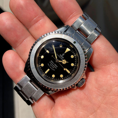 Vintage Tudor Submariner 7928 Gilt Chapter Ring Oyster Prince Ghost Bezel Unpolished Wristwatch Circa 1964