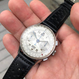 Vintage Angelus Chronodato Steel Chronograph Triple Date Calendar Manual Wristwatch Circa 1940's - Hashtag Watch Company