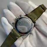 1960s Vintage Zodiac Sea-Chron Steel Valjoux 72 Chronograph Stainless Steel Wristwatch - Hashtag Watch Company