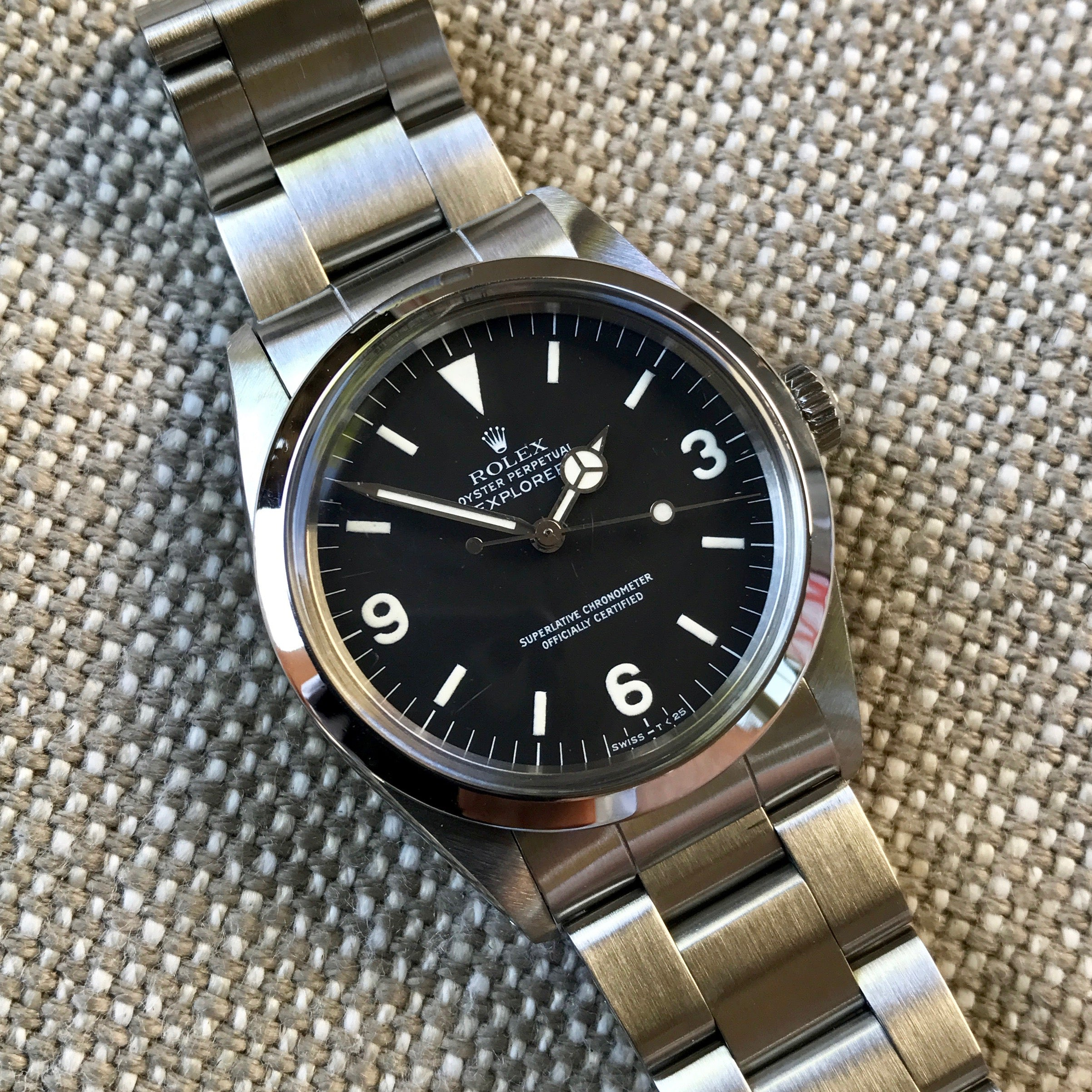 Vintage Rolex Explorer 1016 R Serial Stainless Steel Caliber 1570 Automatic 1987 Wristwatch - Hashtag Watch Company