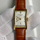 Vintage 1950's Patek Philippe Hour Glass 2468 Sigma Silver Dial Dress Wristwatch - Hashtag Watch Company