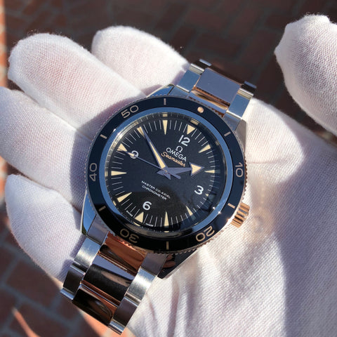 Omega Seamaster 300 Master Co-Axial 41MM 233.20.41.21.01.001 Steel Rose Gold Two Tone Wristwatch Circa 2018