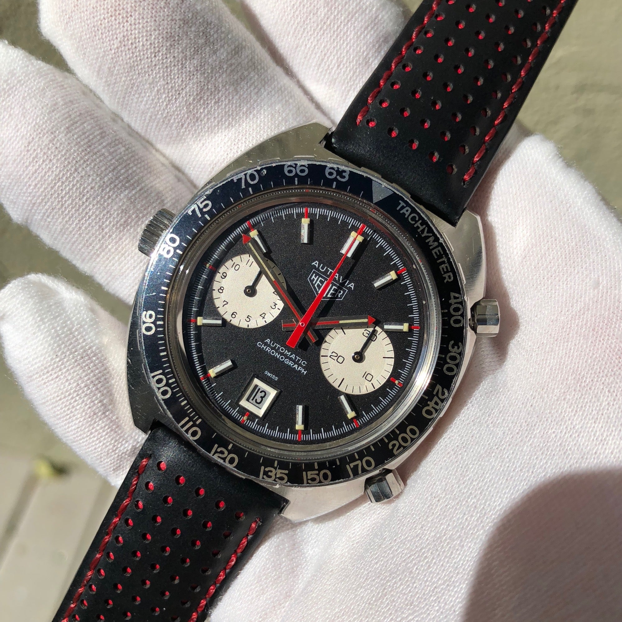 Vintage Heuer Autavia 1163 Viceroy Steel Chronograph Cal. 12 Wristwatch Circa 1972 - Hashtag Watch Company