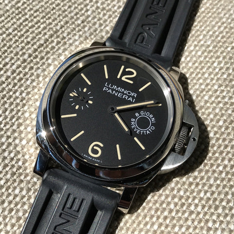 Panerai Luminor PAM 590 8 Days Acciado 44mm Manual Wind Caliber P5000 Wristwatch