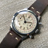 Vintage Doxa Spillman Case Stainless Steel Chronograph Manual 38mm Wristwatch - Hashtag Watch Company