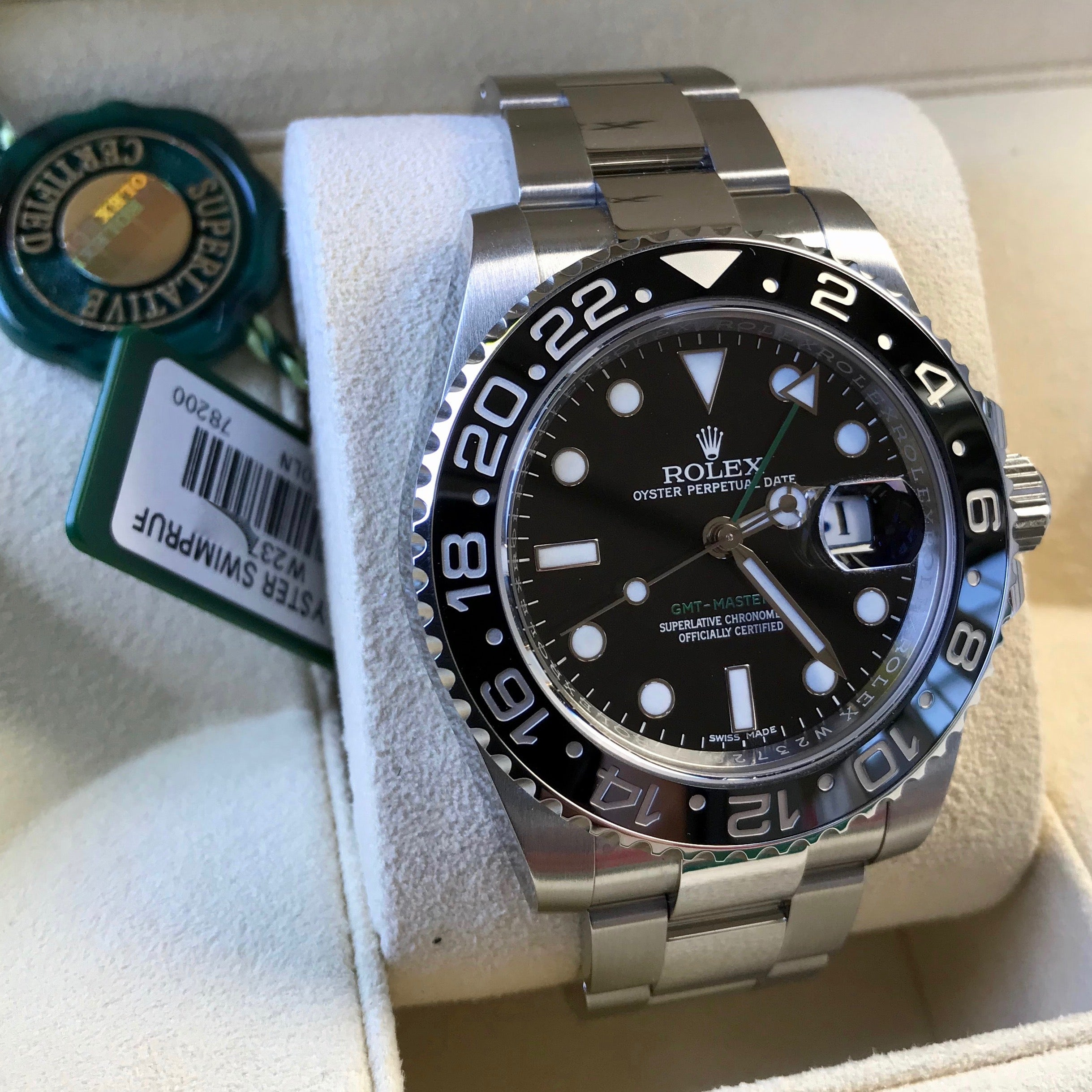 Rolex GMT Master II 116710 Ceramic Steel Automatic Scrambled Serial Watch Box Papers - Hashtag Watch Company