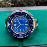Vintage Aquadive 1000 Blue Stainless Steel Automatic Diving Wristwatch Circa 1960s - Hashtag Watch Company