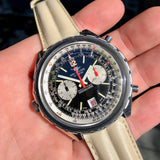 Vintage Breitling Navitimer Chrono-Matic 1806 Stainless Steel Automatic Chronograph Watch 1969 Box & Papers