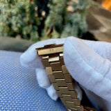 Rolex President 18038 Day Date 18K Yellow Gold Champagne Stick Wristwatch Circa 1986