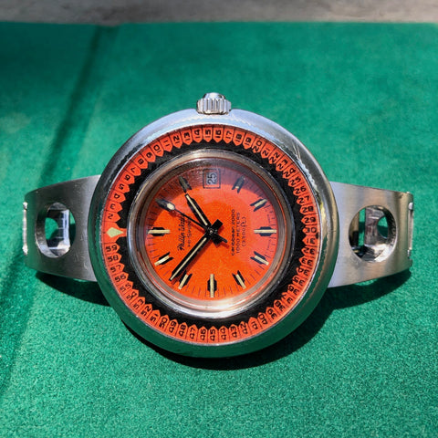 Vintage Philip Watch Hi Swing Caribbean 2000 Diving Automatic Wristwatch Circa 1970s