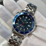 OMEGA Seamaster 300 GMT Professional 2535.80 Co-Axial Automatic Blue 41mm Wristwatch - Hashtag Watch Company