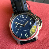 Panerai Luminor Marina PAM 70 Automatic Stainless Steel Blue Wristwatch Box Papers - Hashtag Watch Company