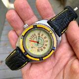 Vintage Aquadive Combination Electronic Depth Gauge Stainless Steel Wristwatch - Hashtag Watch Company