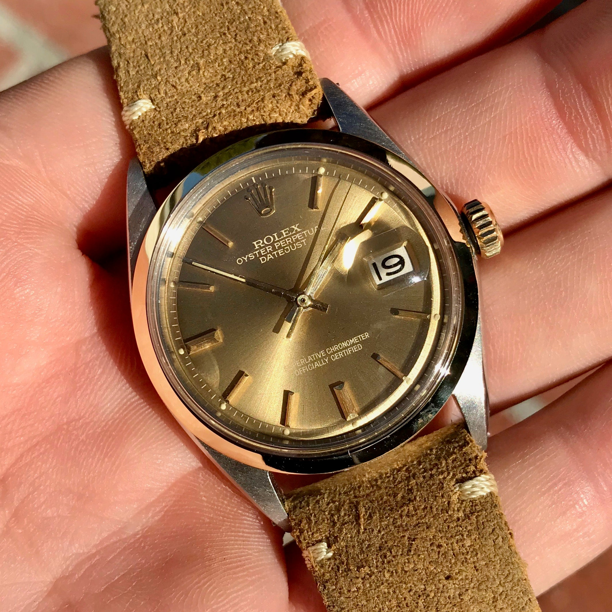 shop dial amazing vintage portfolio watches linen iwc golden solid gold