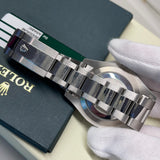 2014 Rolex Datejust II 116334 Rhodium Arabic Fluted 18K Steel Oyster 41mm Wristwatch Box Papers - Hashtag Watch Company