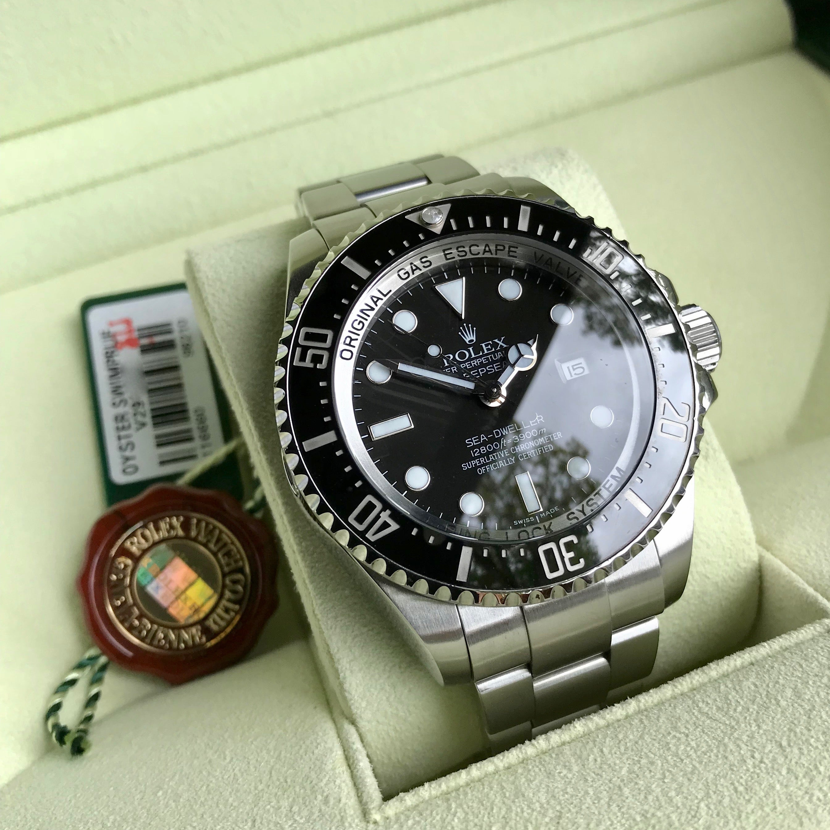 Rolex SEA DWELLER DEEPSEA 116660 Ceramic Mens 44mm Automatic Wristwatch Box & Papers - Hashtag Watch Company
