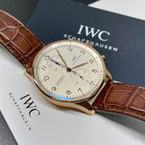 2020 IWC Portugieser IW371480 18K Rose Gold Automatic Chronograph Wristwatch Box Papers - Hashtag Watch Company