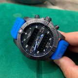 Breitling Exospace B55 Connected Blue Rubber Black Titanium VB5510H2 Wristwatch Box Papers - Hashtag Watch Company
