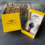 Breitling F65062 Aerospace Repetition Minutes Blue Titanium Gold Quartz Leather 40mm Wristwatch - Hashtag Watch Company