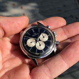 Vintage Movado Sub Sea M95 Chronograph Stainless Steel Black Wristwatch 1960's