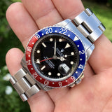 Vintage Rolex GMT MASTER 16750 Pepsi US AIR FORCE Wristwatch Circa 1984 - Hashtag Watch Company
