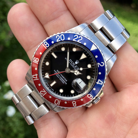 1984 Vintage Rolex GMT MASTER 16750 Pepsi US AIR FORCE Wristwatch