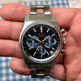 Vintage Zenith El Primero Cover Girl A3818 Steel Chronograph Automatic Gay Freres Wristwatch