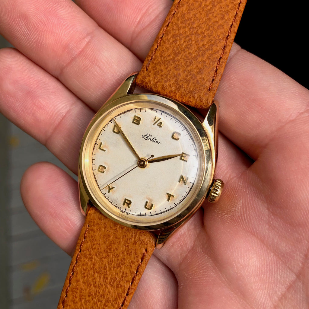 Vintage Rolex 6022 Eaton Retailer Quarter Century Club Precision 14K Yellow Gold  Wristwatch Circa 1958