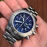 Breitling Avenger E13360 Titanium 44mm Chronograph Automatic Wristwatch Box Papers