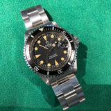 Vintage Tudor Submariner 76100 Lollipop Black Dial Tropical Wristwatch Papers Circa 1985 Unpolished - Hashtag Watch Company