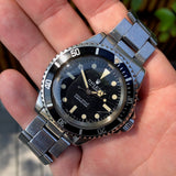 Vintage Rolex Submariner 5513 Meters Frist Dial Matte Black Wristwatch Circa 1967