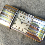 Vintage Ermeto Gubelin Pullman Pink Yellow Gold and Silver Pocket Purse Watch - Hashtag Watch Company