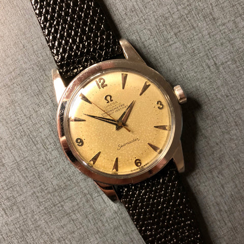 Vintage Omega Seamaster Chronometre 2577 Caliber 352 Bumper Automatic Wristwatch Box Papers 1952
