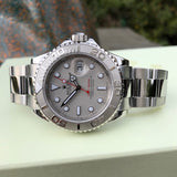Rolex Yachtmaster 16622 Platinum 40mm Steel Oyster Z Serial Wristwatch Box & Papers Circa 2006
