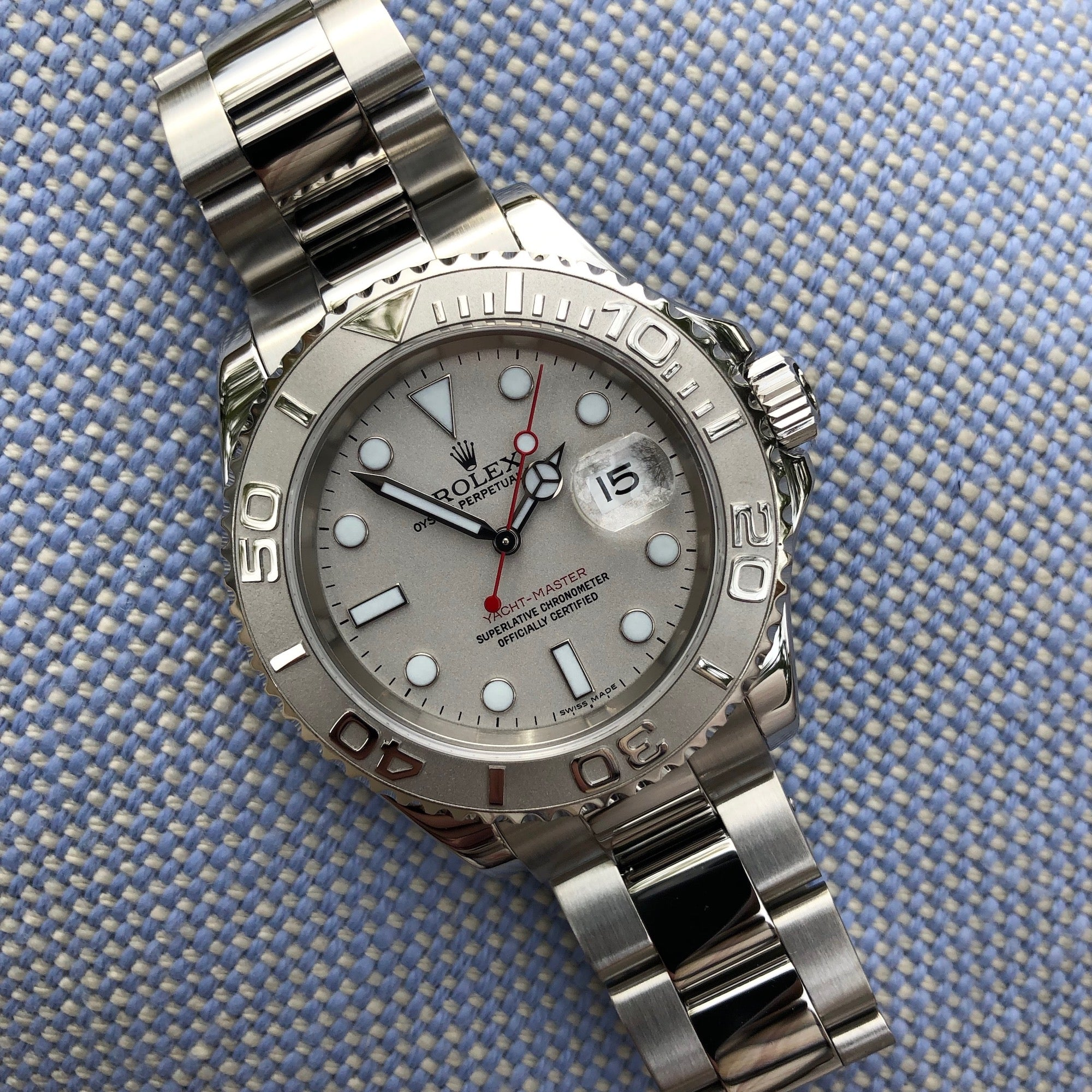 Rolex Yachtmaster 16622 Platinum 40mm Steel Oyster Z Serial Wristwatch Circa 2006 - Hashtag Watch Company