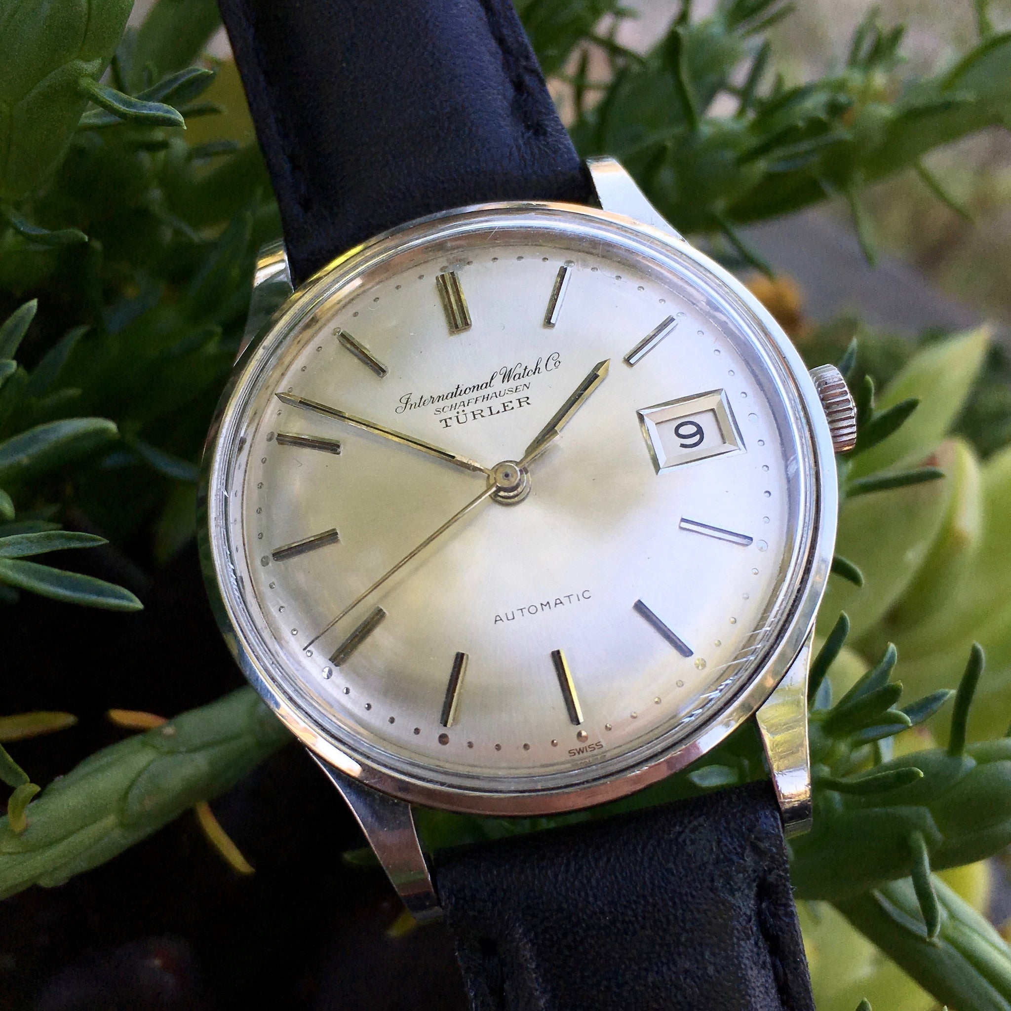 Vintage IWC Shaffhausen 809A Automatic Cal. 8541 Turler Signed Steel Watch - Hashtag Watch Company