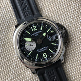 Panerai Luminor GMT PAM 88 Automatic Stainless Steel 44mm Wristwatch Box Papers - Hashtag Watch Company