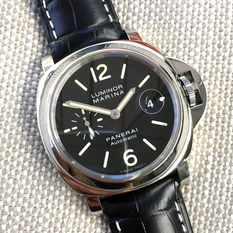 "Panerai Luminor Marina PAM 104 44mm ""O"" Series 2012 Steel Automatic Watch"