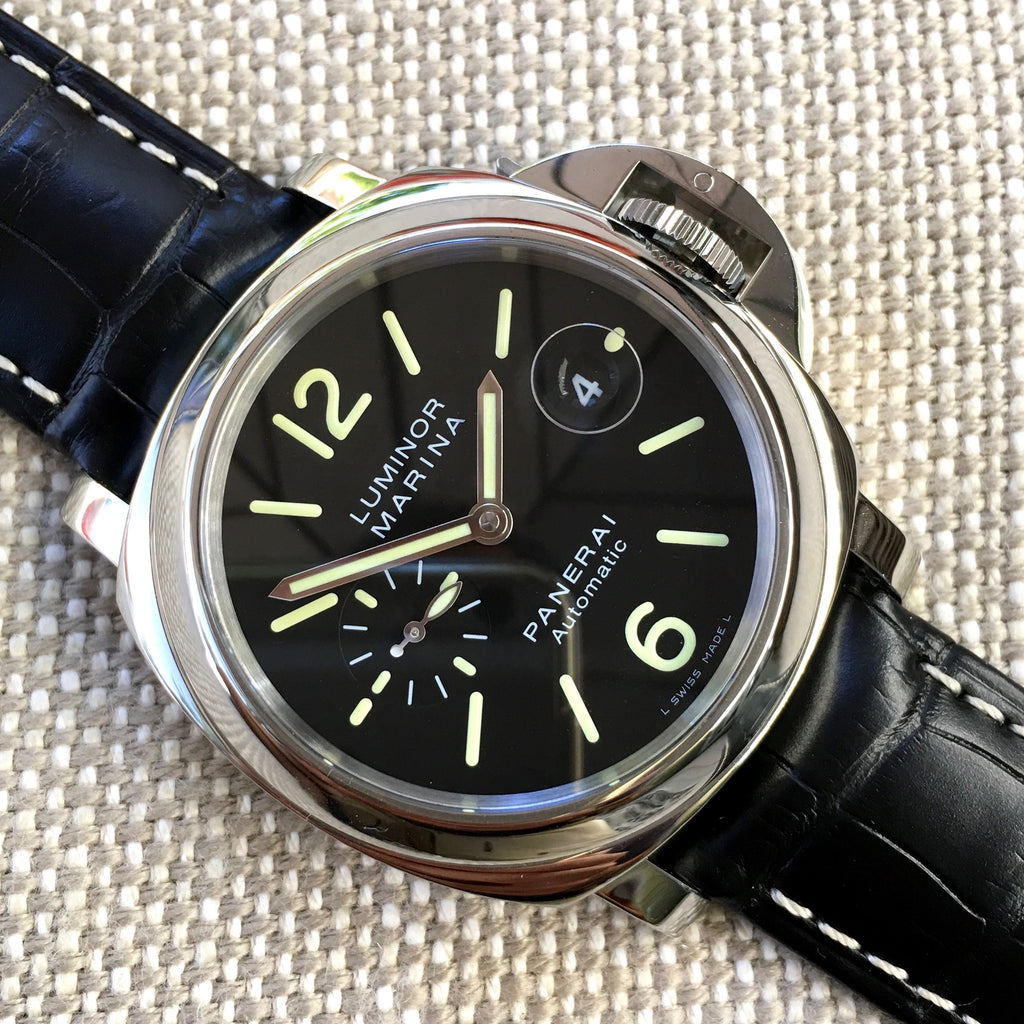 "Panerai Luminor Marina PAM 104 44mm ""O"" Series 2012 Steel Automatic Watch - Hashtag Watch Company"