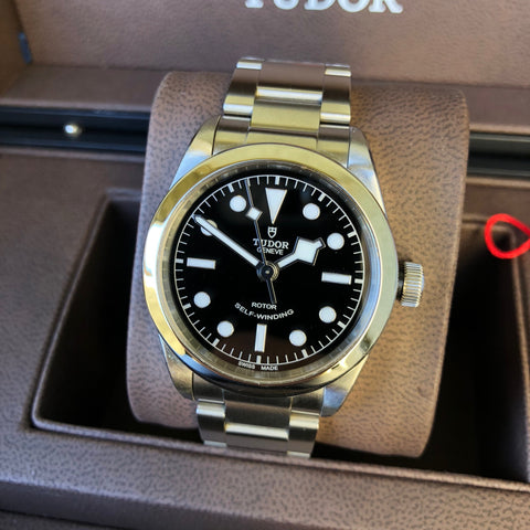 Tudor Black Bay 79500 Stainless Steel 36 Black Dial Automatic Wristwatch Box Papers Circa 2016