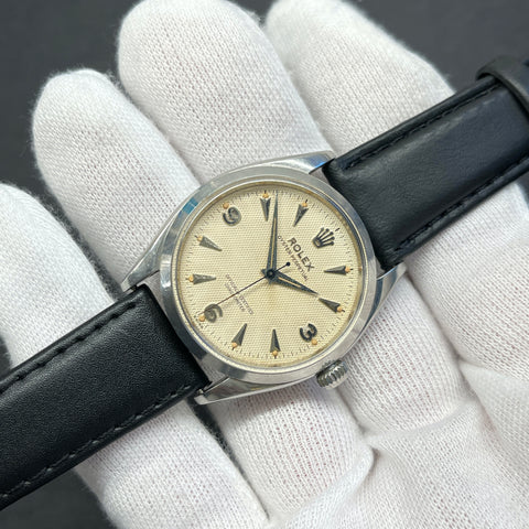 Vintage Abercrombie & Fitch Co. Seafarer 2443 First Execution Heuer Chronograph Valjoux 72 Manual Steel Wristwatch