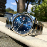 Rolex Datejust 116200 Blue Stick 36mm Oyster Stainless Steel Wristwatch - Hashtag Watch Company