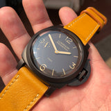 Panerai Luminor 1950 Composite 3 Days PAM 375 47mm Ceramic Wristwatch Box Papers - Hashtag Watch Company
