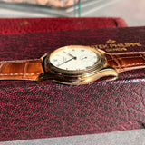 Patek Philippe Calatrava 5115J 18K Yellow Gold 35mm Enamel Wristwatch Box & Papers