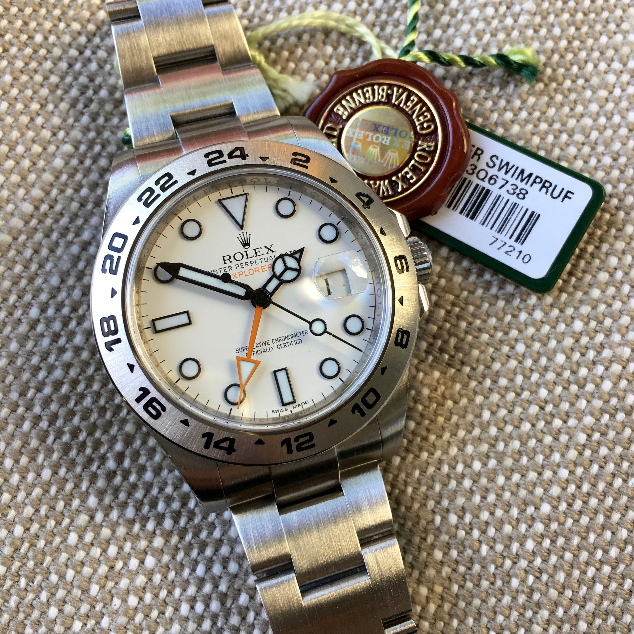 Rolex Explorer II 216570 Steel GMT Random Serial Oyster Wristwatch 2013 Box Papers